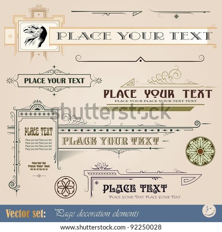 Decorative elements for design of printed materials - stock vector