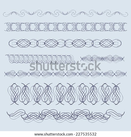 Decorative elements of the line - stock vector