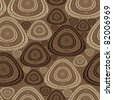 Decorative elements on brown background - seamless pattern - stock vector