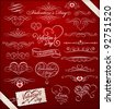 Decorative elements on Valentine's Day - stock vector
