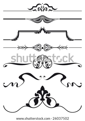 Decorative elements, vector - stock vector