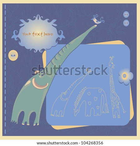 Decorative elephant - stock vector