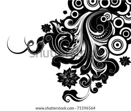 decorative floral background vector - stock vector