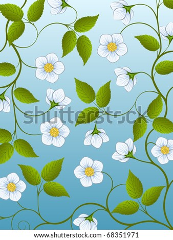 Decorative floral background. Vector illustration.