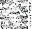 Decorative floral borders - stock vector
