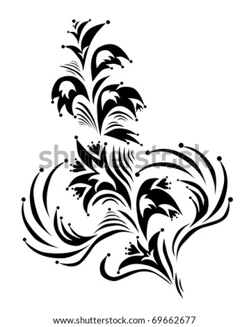 decorative floral element for your design - stock vector
