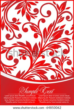 decorative  floral  vector background - stock vector