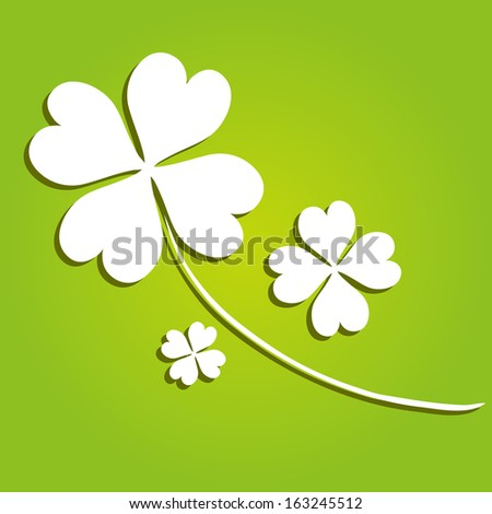 decorative four leaf clover, symbol of luck - stock vector
