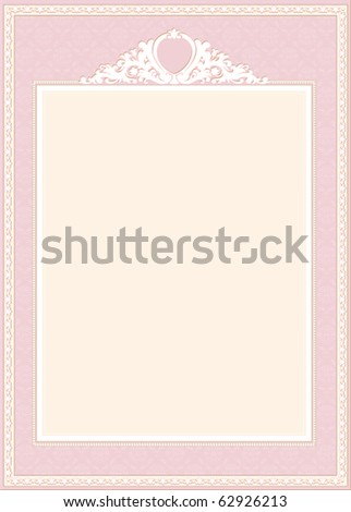 decorative frame - stock vector