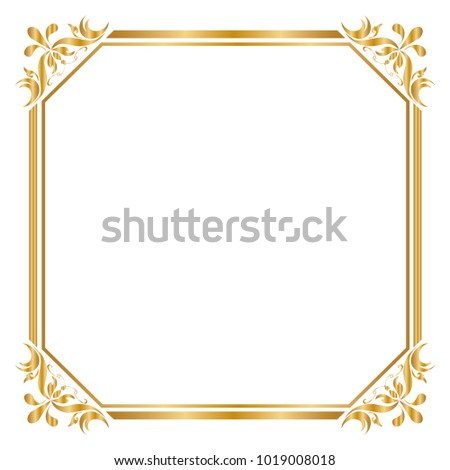 Decorative frame border design birthday greeting stock vector decorative frame and border for design of birthday and greeting card wedding golden frame m4hsunfo
