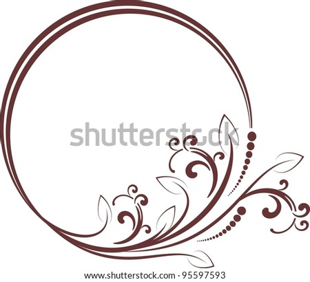 decorative frame for design in vintage styled - stock vector