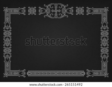 Decorative frame. Vector illustration.