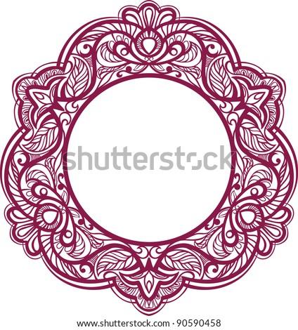 Decorative frame. Vintage ornamental element. vector - stock vector