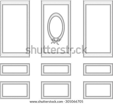 Decorative Frames Walls Backgrounds Interior Design Stock Vector ...