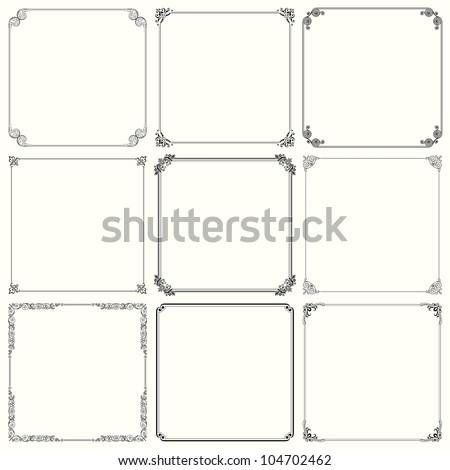 Decorative frames (set 23) - stock vector