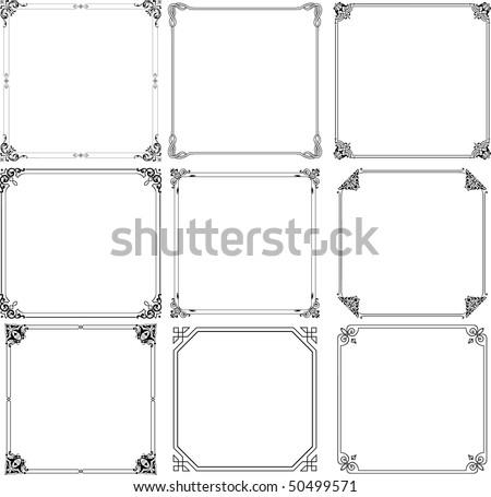 Decorative frames (set 1) - stock vector