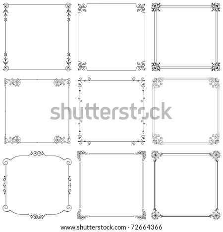 Decorative frames (set 8) - stock vector
