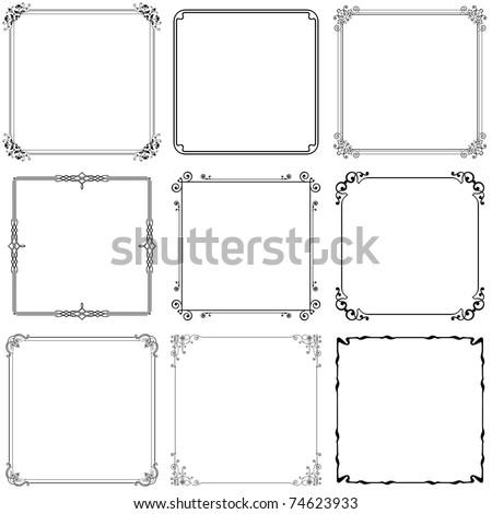 Decorative frames (set 10) - stock vector