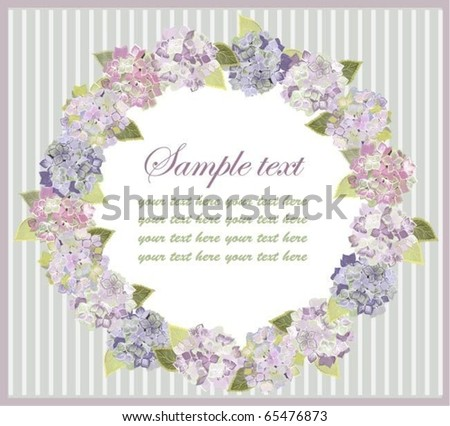 Decorative framework. Hydrangea. eps10 - stock vector