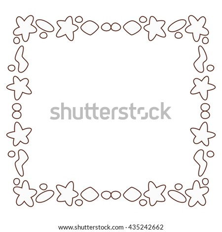 Decorative geometric borders or frames.