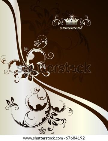 Decorative golden background - stock vector
