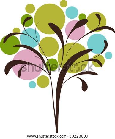 Decorative graphic icon of tree - stock vector