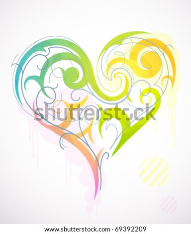 Decorative heart design - stock vector