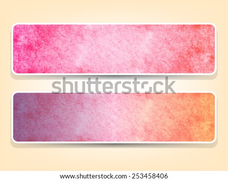 Decorative horizontal abstract banners for your design