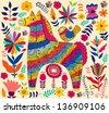 Decorative horse - stock vector