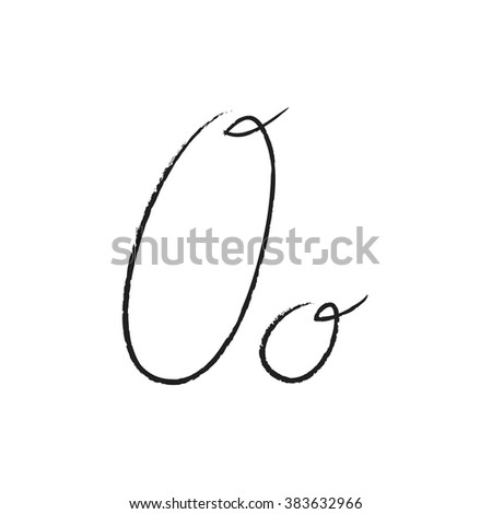 Decorative isolated letter shape. Font O