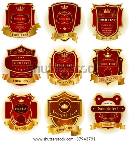 Decorative labels collection