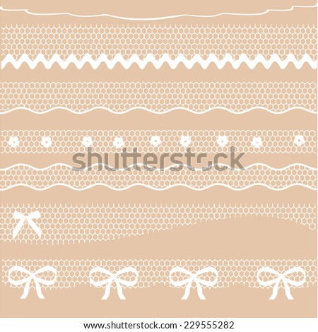 Decorative lace dividers vector - stock vector
