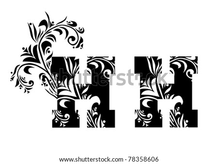 decorative letter h for your design