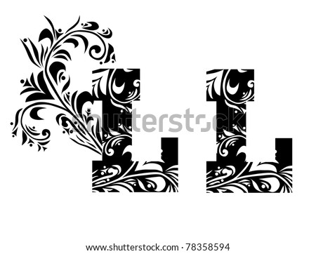 decorative letter l for your design