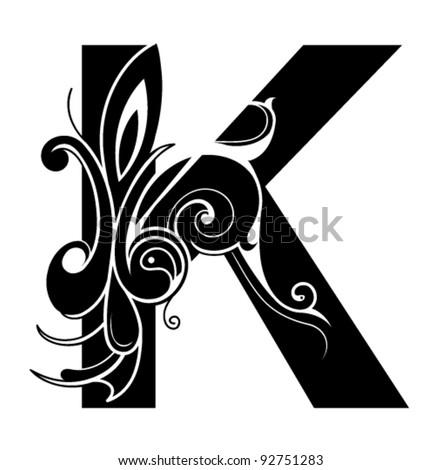 decorative letter shape font k