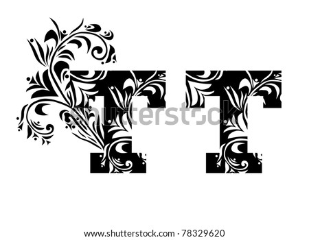 decorative letter t for your design