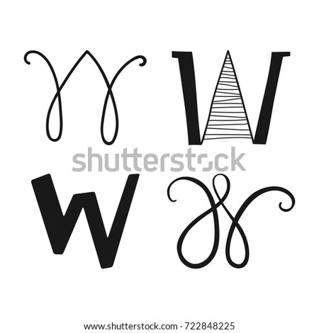 Decorative Letters Of The Alphabet Lettering For Design Scrapbooking Digital Stamps Vector