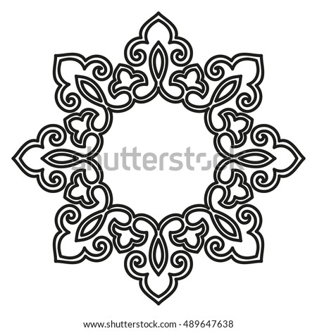 decorative line art frames design template stock vector 489647638 rh shutterstock com lace trim border vector black lace border vector