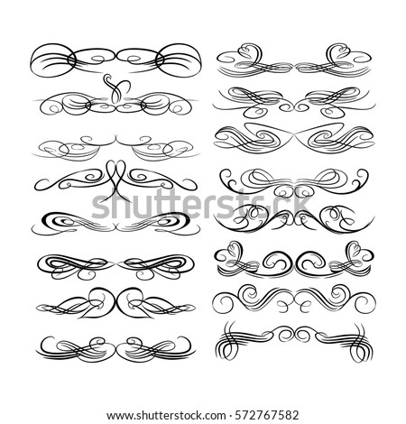 Decorative Monograms And Calligraphic Borders Template Signage Logos Labels Stickers Cards