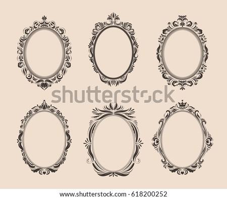 oval frame stock images royaltyfree images amp vectors