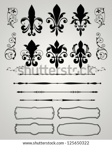 DECORATIVE PAGE ELEMENTS - stock vector