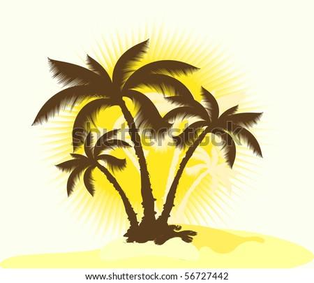 Decorative palms. EPS10 - stock vector