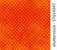 Decorative retro orange halftone background - stock vector
