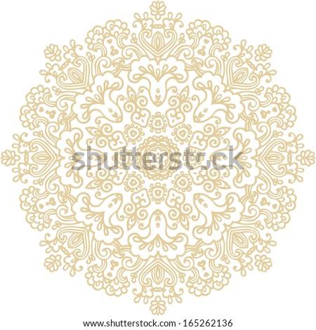 Decorative rosette - stock vector