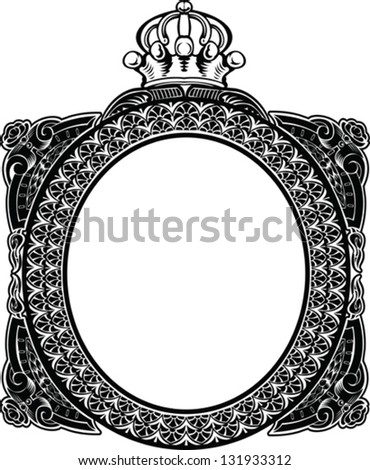 Decorative Royal Oval Vintage Frame - stock vector