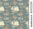 Decorative sea background - stock vector