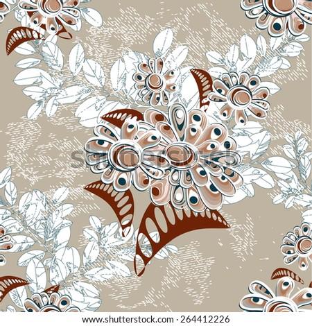 decorative seamless pattern - stock vector