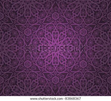Decorative seamless pattern. Retro background. Vector illustration. - stock vector