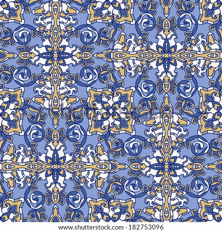 Decorative seamless pattern. Vector illustration. EPS-8.