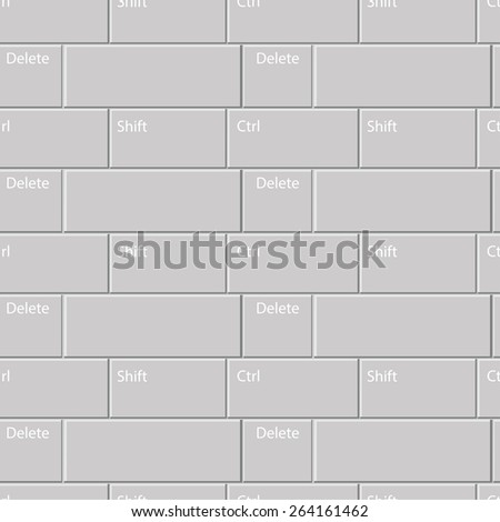 decorative seamless pattern with keypad buttons - stock vector